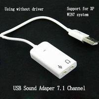 USB Sound Adapter 7.1 Channel Headset External Sound Card Line