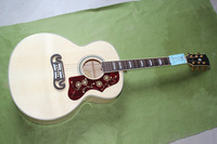 12. Free shipping Custom Shop Hot selling Dot Spruce Beige SJ200 6 Strings (Electric) Acoustic Guitar
