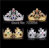 10pcs Children Prince Princess Bridal Prom Wedding Birthday Party Crown Tiaras,Rhinestone Cross/Heart Hairband Crown Tiara