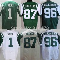 Cheap football Jersey #1 Michael Vick #96 Muhammad Wilkerson #87 Eric Decker American Football elite Jersey