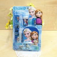 6389 New Style Frozen Anna Elsa Princess Pencil + Pencil Sharpener + Eraser  + Notebook Girls School kawaii Stationery