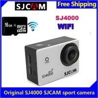 Free Shipping!Brand SJCAM SJ4000 WiFi 1080P Full HD Outdoor Sports Action Dash Camera Cam DVR white +16GB micro SD card