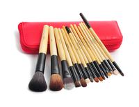 15 PCS red high quality Professional Goat Hair Makeup Cosmetic Brush set Kit H1074E