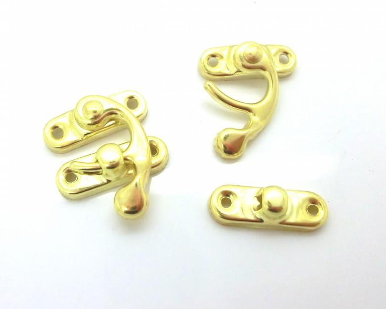 30 комплектов Золотой металлический крюк box