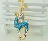2014 new Fashion goat caprine sheep animal Personality Car Keychain Bag Charm Purse Pendant Keyring key chain free shiping