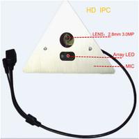 New arrival Hisilicon chip Panorama corner 1.0MP,720P High definition IP cctv camera IPC-324AC