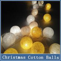 1x Christmas Lights Home Outdoor Decoration String Random Color Cotton 20 Balls Wedding Halloween Luminarias Gift 220V 3M Light