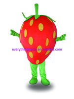 New arrival 2014 Adult cartoon lovely strawberry doll mascot costume fancy dress Christmas party costume