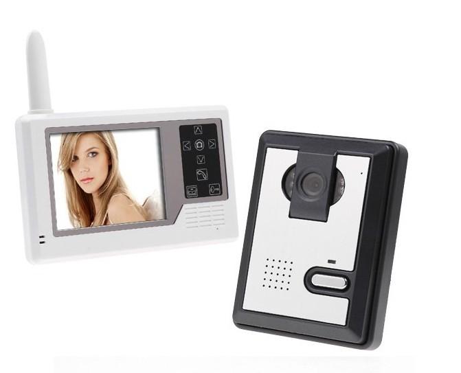 2.4ghz digital apartment building wireless video door phone intercom system(China (Mainland))