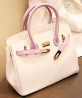 free shipping hot sale woman tote bag 30cm 35cm gold silver lock female leather handbag famous brand ladies sac a main