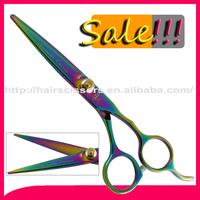 Big sales !!!! ThreeDarts rainbow color limited quantity 5.5 inches professional hair scissors