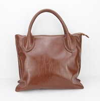 H047(dark brown), Tote handbag for women, fashionable design, zipper closure, made of  leather/PU, free shipping