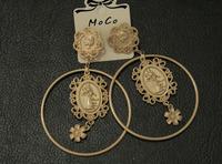 European and American beauty queen catwalk models big picture earring female metal earrings