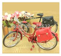 Black+Red  Assembled Alloy Bicycle Model + mini lighter Diecast Zinc simulation Toy Gift decoration 2pcs/lot