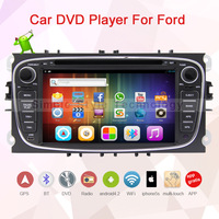 2 Din 7 inch  Car player for Ford, Android 4.2.2, built in GPS+Wifi+Bluetooth+USB+SD+Dual core 1GB CPU+DDR3 1GB +8GB Flash