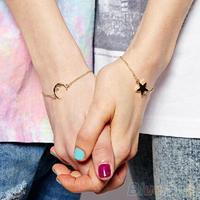 Hot New Design Charm Moon Star Bracelet Gold Boho Hippie Bohemian Bangle  1MNE