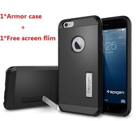 """11 Colors New spigen sgp for iPhone 6 plus 5.5"""" Case Tough Armor TPU+PC Hard phone back cover for iphone6 5.5""""+Free screen Film"""
