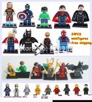 Star Wars 24pcs/lot plasctic Building Blocks Sets Minifigure Educational DIY Construction Bricks figure Toys For Children