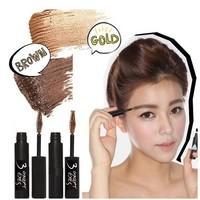 2014 New Makeup Eyebrow Cream Mascara Waterproof Eyebrow creamy pigment mascara pencil Brown/Gold