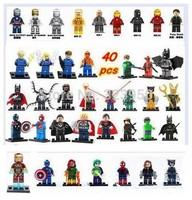 DECOOL 400pcs Super Heroes Avengers marvel future foundation Green Lantern green arrow deadpool Minifigures building Blocks Toys