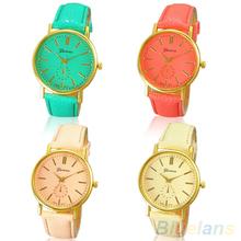 Women's Fashion Geneva Roman Numeral Faux Leather Quartz Analog Wrist Watch  B02 1MJU(China (Mainland))