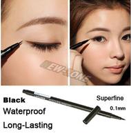 Waterproof Super Slim 0.1mm Black Liquid Eyeliner Pen Long-Lasting 24 Hours eyeliner pen