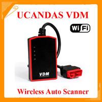 2014 100% Orignial Wireless Universal Car Diagnostic Tool UCANDAS VDM Update Online Auto Scanner VDM DHL Free Shipping