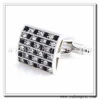 Free shipping YH-1061  Elegant  Black and White Rhinestone Cufflinks, Crystal Cufflinks- Factory Direct Selling