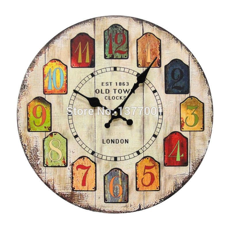 2015 New Arrival Unique 3d Diy Clock Home Decor Modern Fashion Large Vintage Wooden Wall Clock