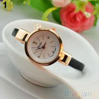 Women Ladies Candy Color Fashion Thin Leather Strap Quartz Bracelet Wrist Watch  B02
