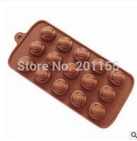 Rose Silicone Flower Chocolate Mould Ice Tray Soap Mold Cake Fondant Decoration