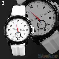 Men's WomenUnisex Classic Army Silicone Rubber Sport Analog Quartz Wrist Watch B02