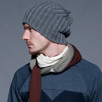 7 Colors Men Hats 2014 New Fashion Casual Knitted hat male bars autumn and winter knitted hats Caps beckham Apparel accessories
