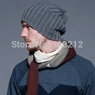 7 Colors Men Hats 2014 New Fashion Casual Knitted hat male bars autumn and winter knitted hats Caps beckham Apparel accessories(China (Mainland))