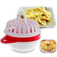 Microwave Oven DIY Oil-free Low Calorie Crispy Potato Chip Maker Set Vegetable Slicer for Potato Apple Pumpkin