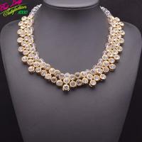 2014New Color za Brand Statement Gem Drop Clear Pendant Necklace Vintae Women Bib Beads Accessories Clain Necklace 9285