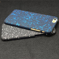 For iPhone 6  Three Dimensional Matte Back Dazzling Starry Sky Protective Ultra Thin Frosted Colorful 4.7 inch Case Skin (PG012)