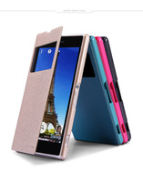 2014 Original Nillkin Sparkle Series Luxury PU Leather Case Cover Phone Bag for Sony Xperia Z1 L39h  Free Shipping