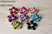 Free Shipping,25MM,144pcs/color/lot, Acrylic plastic Rhinestone Button Halloween Christmas sewing with shank wholesale New,3341