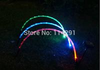2014 New LLR01 3 LED RGB Rainbow Solar Lawn Lamp luminaria solar garden decoration outdoor lamps abajur solar panel