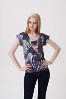 Drop Ship t-shirt Woman Atacado Roupas Femininas Sexy Catwoman & Batman 3D Printed Back Blank Plus Size Casual Tops Wholesale