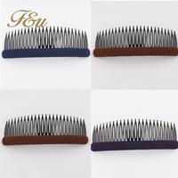 2014 Fashion Pure Color Casual Cheap Hair Comb Plastic Hair Clip Comb #141