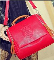 2014 autumn fashion preppy style stamp one shoulder bags women leather handbags women messenger bags women handbag free shipping