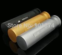 COHIBA Silver Titanium Alloy Cigar Tube Jar Holder with Humidifier Hygrometer-free shipping