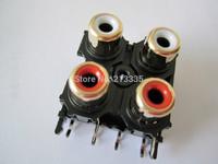 Four- RCA SOCKET ,AV4-8.4-13   ,Customized welcomed   AU AV jack