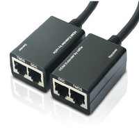 Wired HDMI Extender 30m 100ft over cat5/5e cable LAN Ethernet Balun Extender 1080P 3D