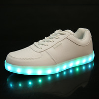 2014 New Specials hot Selling emitting luminous casual shoes men women couple LED lights USB charging shoe fashion sneakers