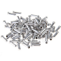 100x Bicycle Bike Shifter Brake Cable Tips Caps End Crimp Silver