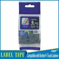 Cheap Compatible 6mm white on black tz label tape tz-315