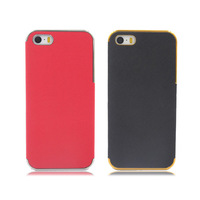 New style PC & Leather Material Mobile Phone Case For Iphone 5 5S 5G Back Cases Cover Hard case APC020402
